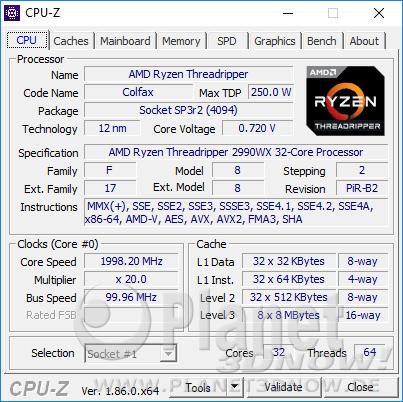 AMD Ryzen Threadripper 2990WX - CPU-Z CPU