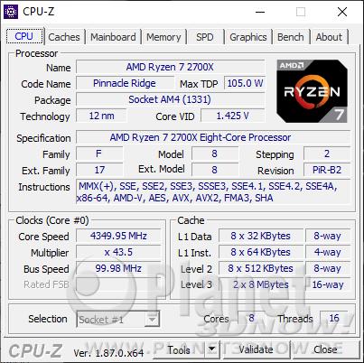 AMD Ryzen 7 2700X - CPU-Z: CPU Turbo