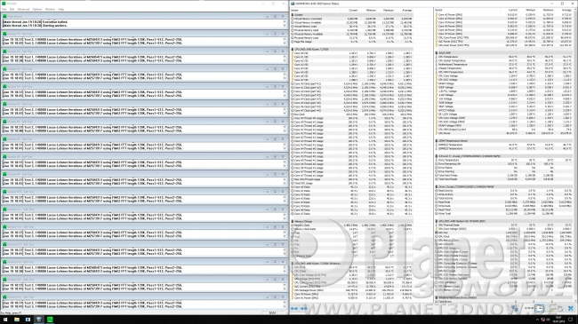 Taktrate 2700X mit aktiviertem Precision Boost 2: Prime95