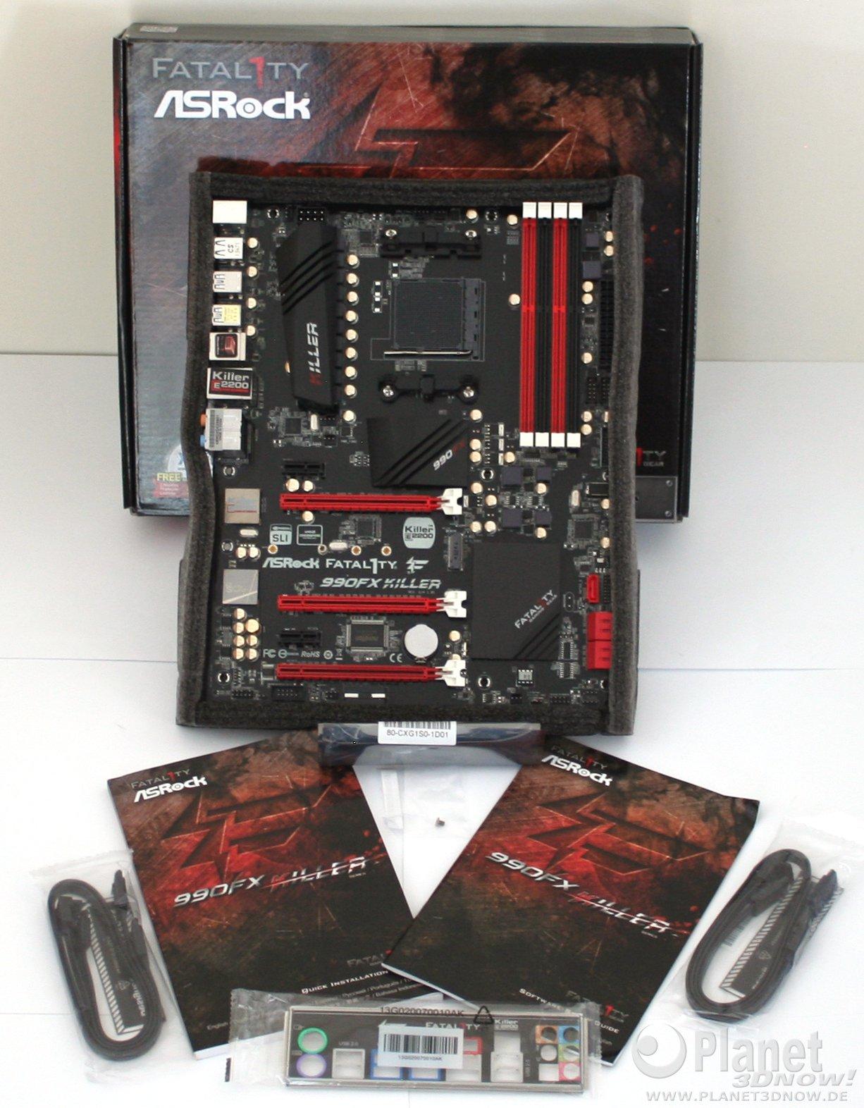 ASRock Fatal1ty 990FX Killer groß Lieferumfang