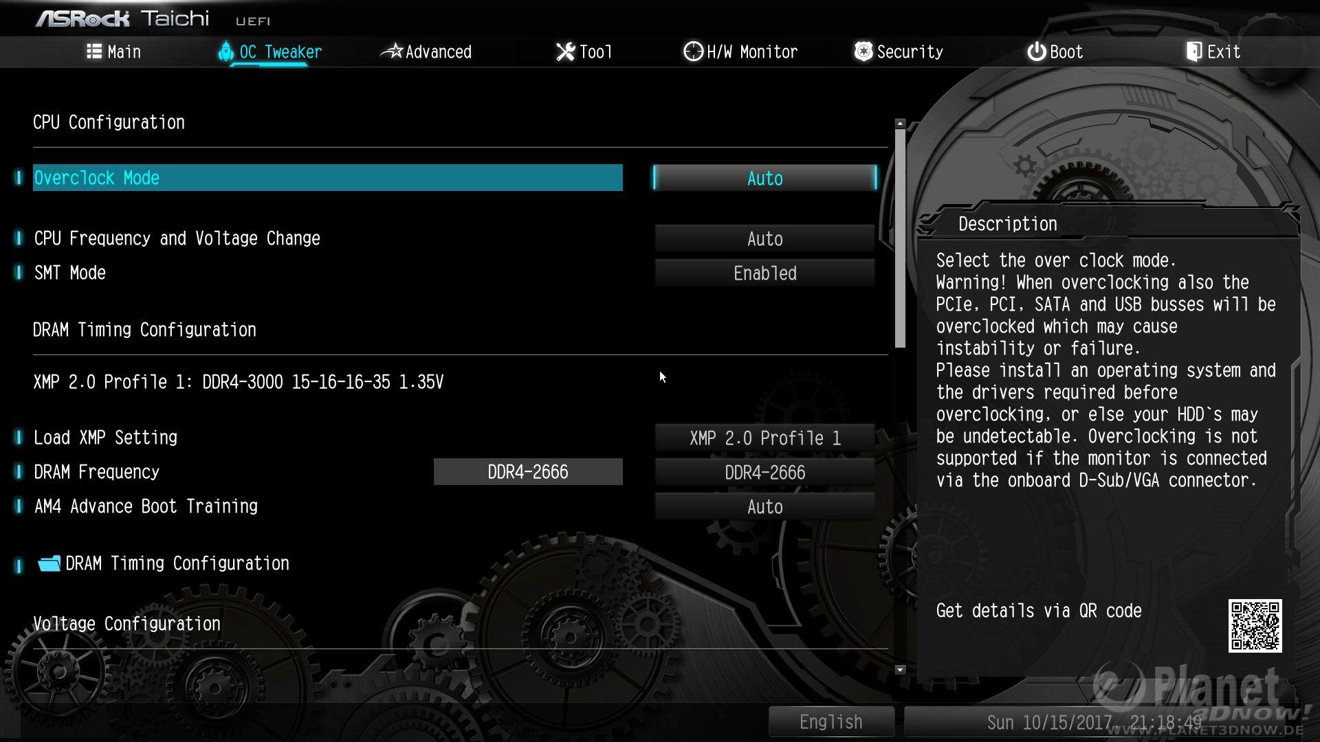 ASRock X370 Taichi - BIOS