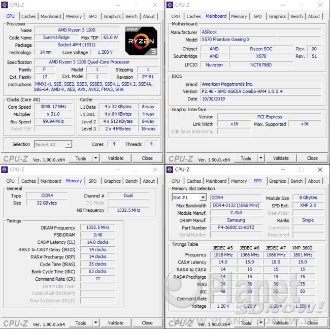 ASRock X570 Phantom Gaming X: Unterstützung Ryzen 1000