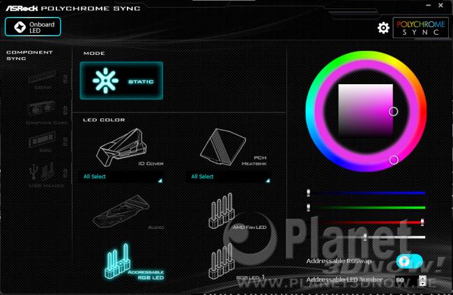 ASRock X570 Phantom Gaming X: Software - ASRock Polychrome SYNC