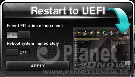 ASRock X570 Phantom Gaming X: Software - Restart to UEFI