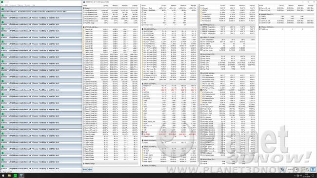 ASRock X570 Phantom Gaming X: Taktraten in Prime95