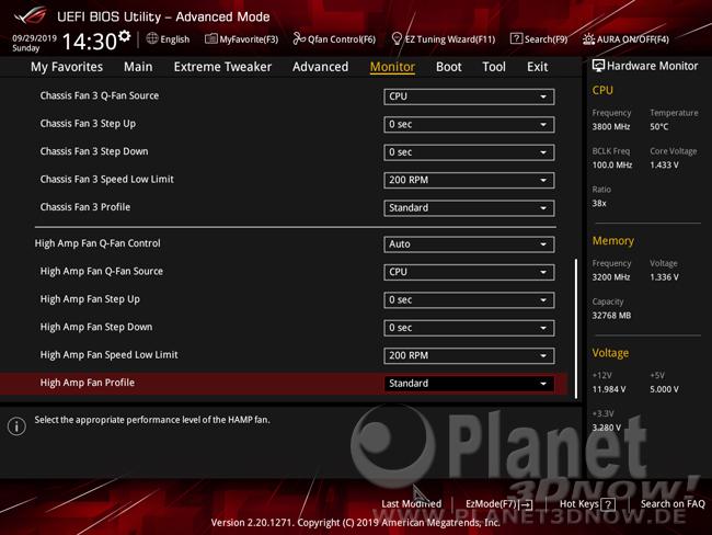 ASUS Crosshair VIII Hero (Wi-Fi): Lüftersteuerung