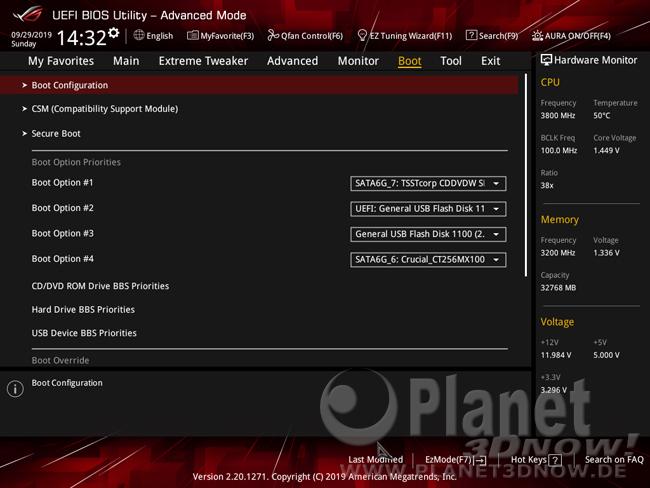 ASUS Crosshair VIII Hero (Wi-Fi): BIOS