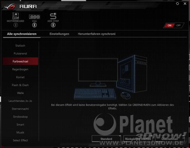 ASUS Crosshair VIII Hero (Wi-Fi): Software - Aura