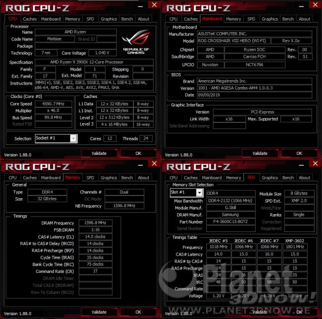ASUS Crosshair VIII Hero (Wi-Fi): Software - CPU-Z