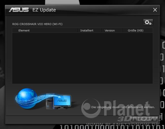 ASUS Crosshair VIII Hero (Wi-Fi): Software - EZ Update