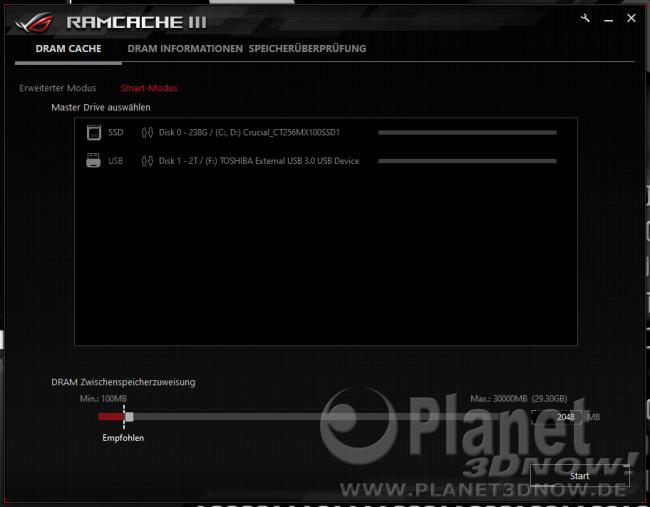 ASUS Crosshair VIII Hero (Wi-Fi): Software - Ramcache III