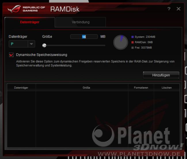 ASUS Crosshair VIII Hero (Wi-Fi): Software - RAMDisk