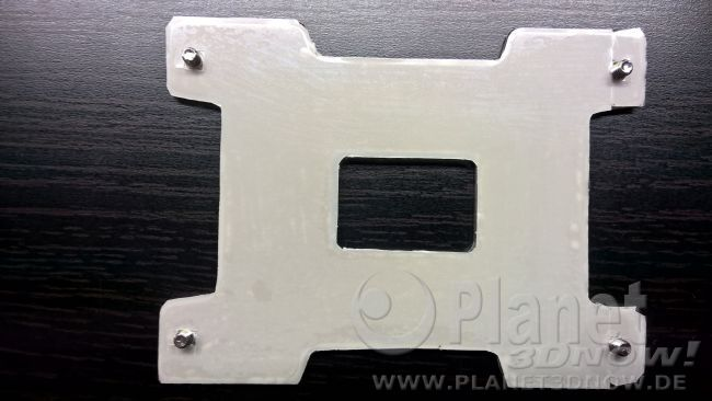 Hinterlüftung: modifizierte Backplate