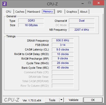 AMD FX-8370E CPU-Z Speicher und Northbridge