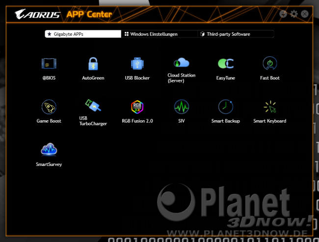 Gigabyte X570 Aorus Master: Software