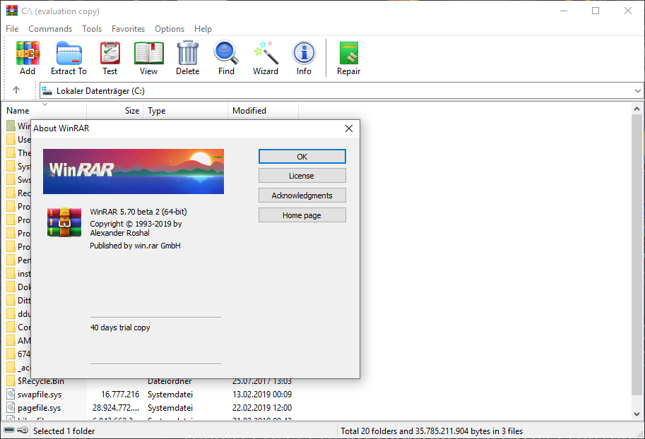how to remove winrar diagnostic message